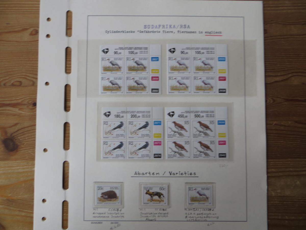 Südafrika Spezial Sammlung Bedrohte Tiere sehr vielfältig mit Erstdrucken Papier 12