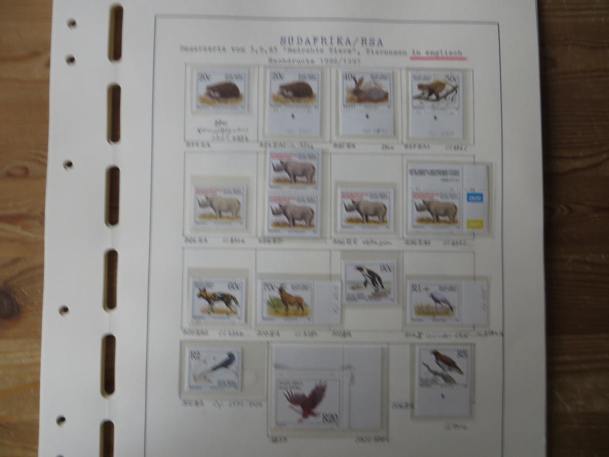 Südafrika Spezial Sammlung Bedrohte Tiere sehr vielfältig mit Erstdrucken Papier 2