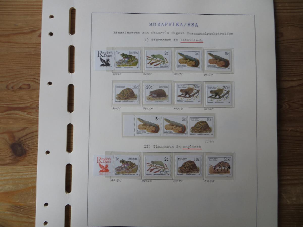 Südafrika Spezial Sammlung Bedrohte Tiere sehr vielfältig mit Erstdrucken Papier 4