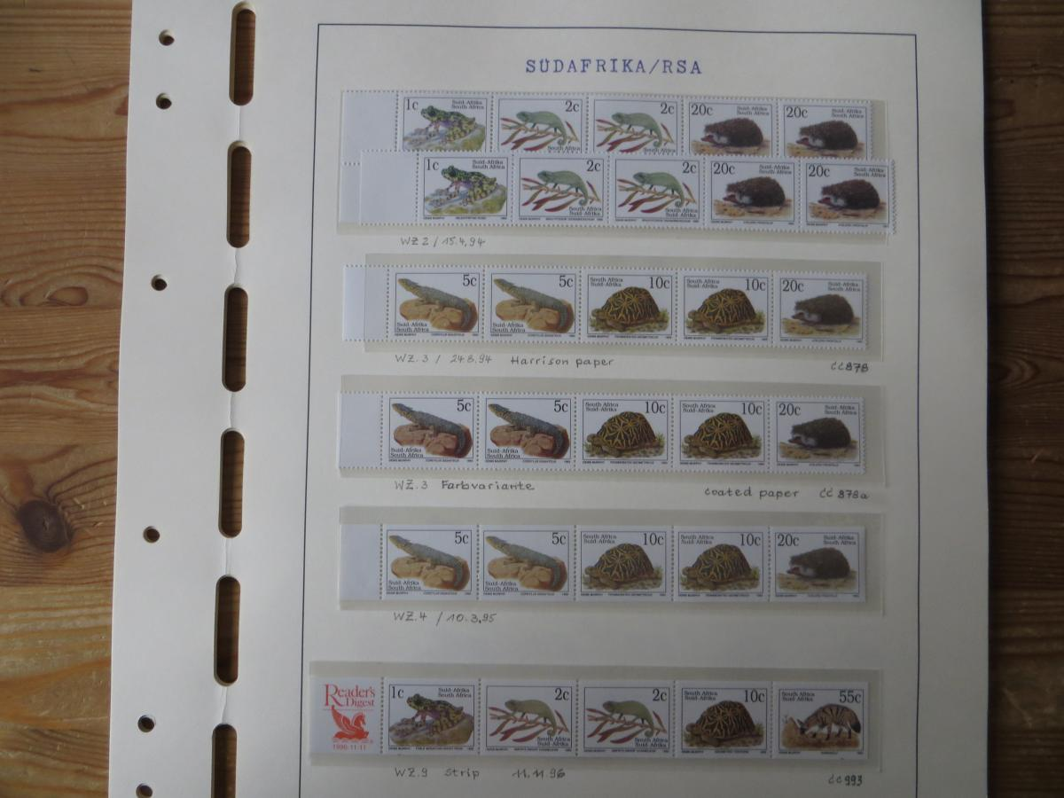 Südafrika Spezial Sammlung Bedrohte Tiere sehr vielfältig mit Erstdrucken Papier 5