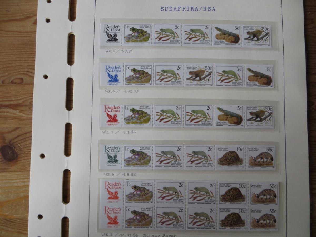 Südafrika Spezial Sammlung Bedrohte Tiere sehr vielfältig mit Erstdrucken Papier 6