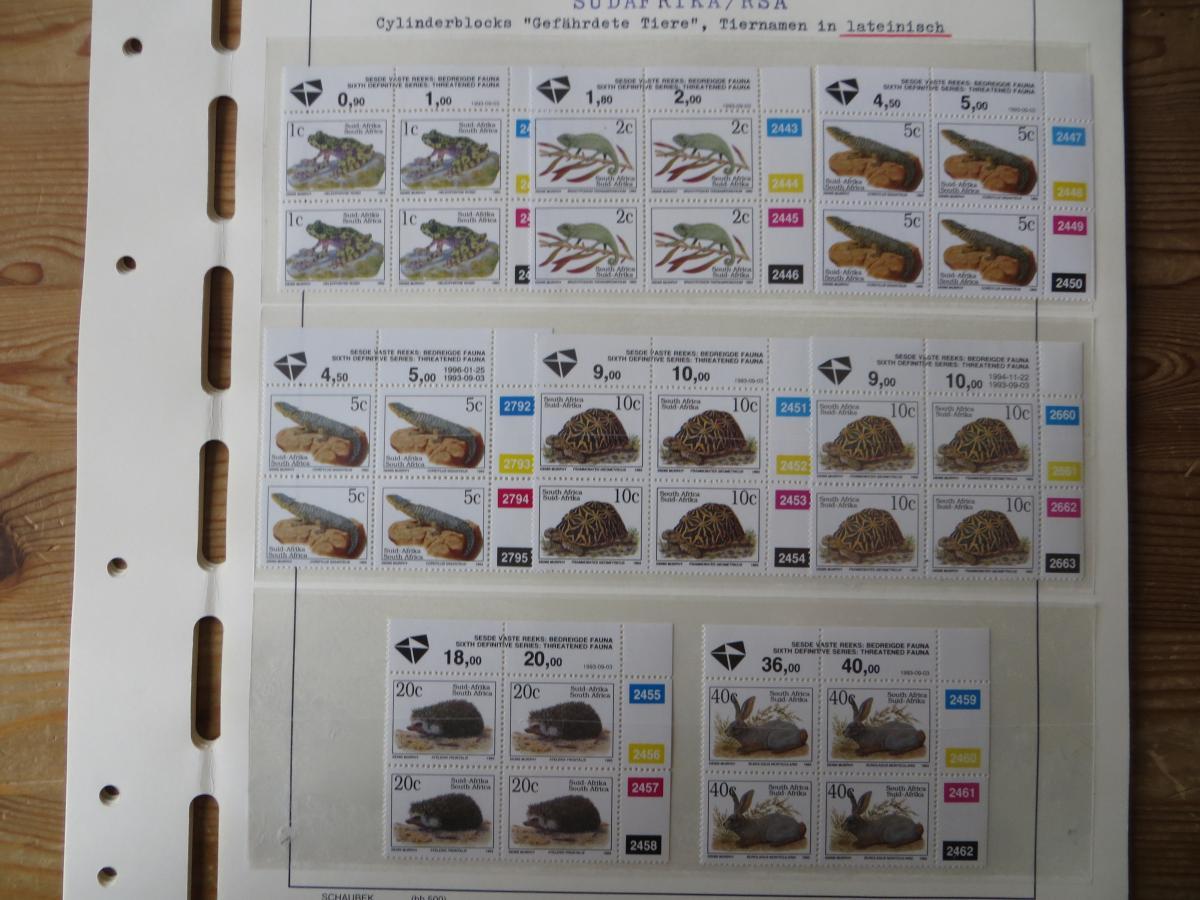 Südafrika Spezial Sammlung Bedrohte Tiere sehr vielfältig mit Erstdrucken Papier 7