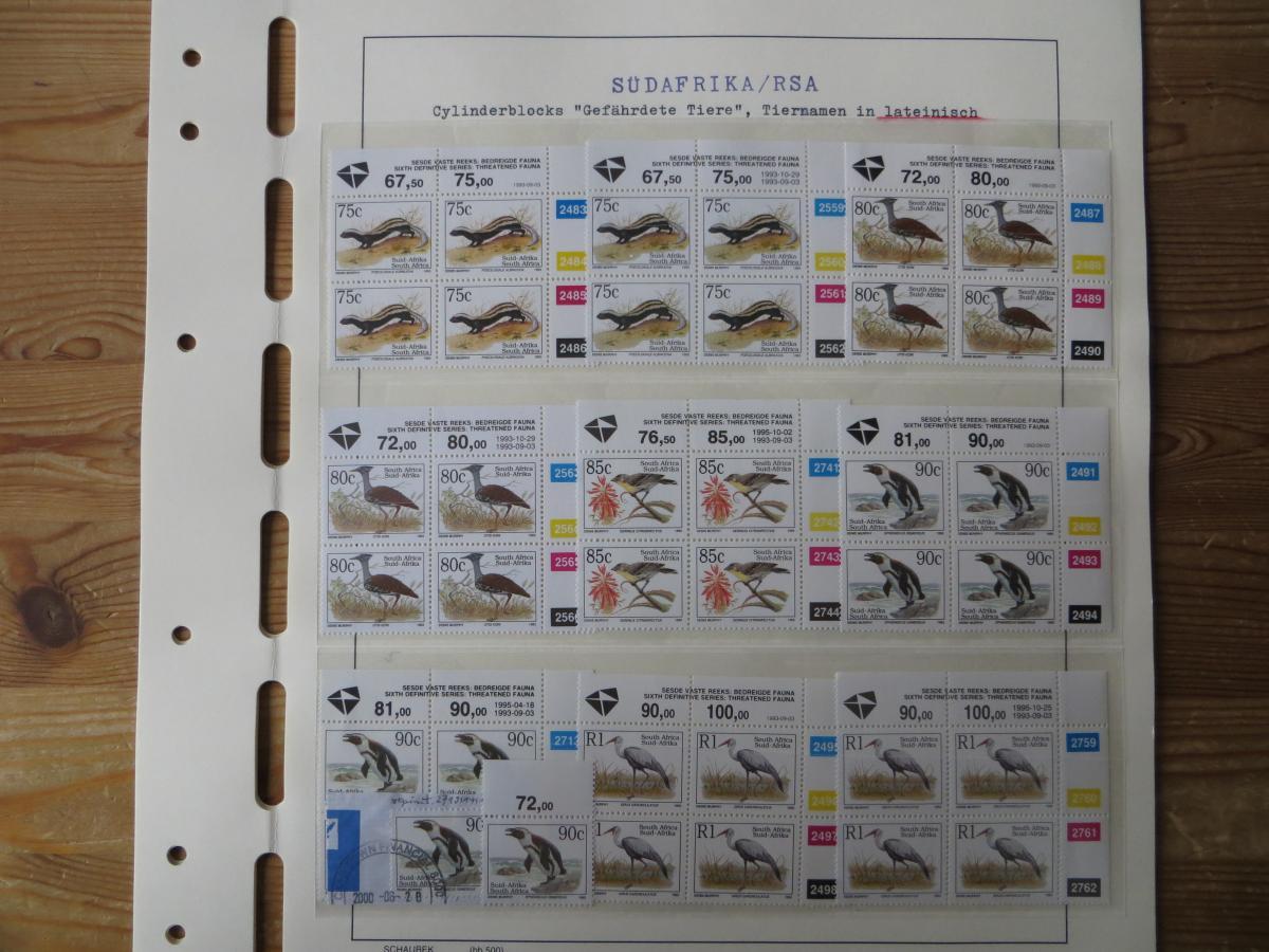 Südafrika Spezial Sammlung Bedrohte Tiere sehr vielfältig mit Erstdrucken Papier 9