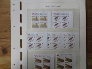 Südafrika 1100-4 Vögel Tiere Spezial Lot mit Blöcken der verschied. Druck Papier
