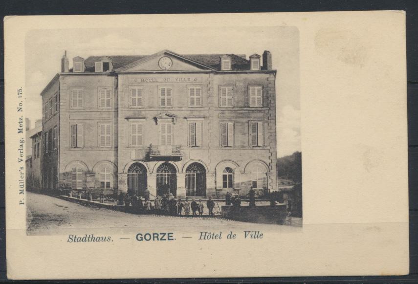 Ansichtskarte Frankreich Gorze Lothringen Stadthaus Hotel de Ville Verlag Müller 0