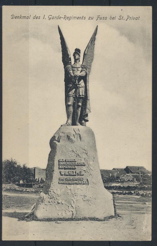 Militaria Ansichtskarte Denkmal 1. Garde Regiment zu Fuss bei St. Privat 0