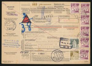 Bund Brief MIF 500 Bauwerke 503 Paketkarte 13,10 Reichholheim Berchern Antwerpen