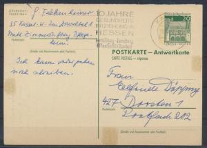 Bund Ganzsache P 94 A Antwort Kassel nach Dorsten 10.4.1971