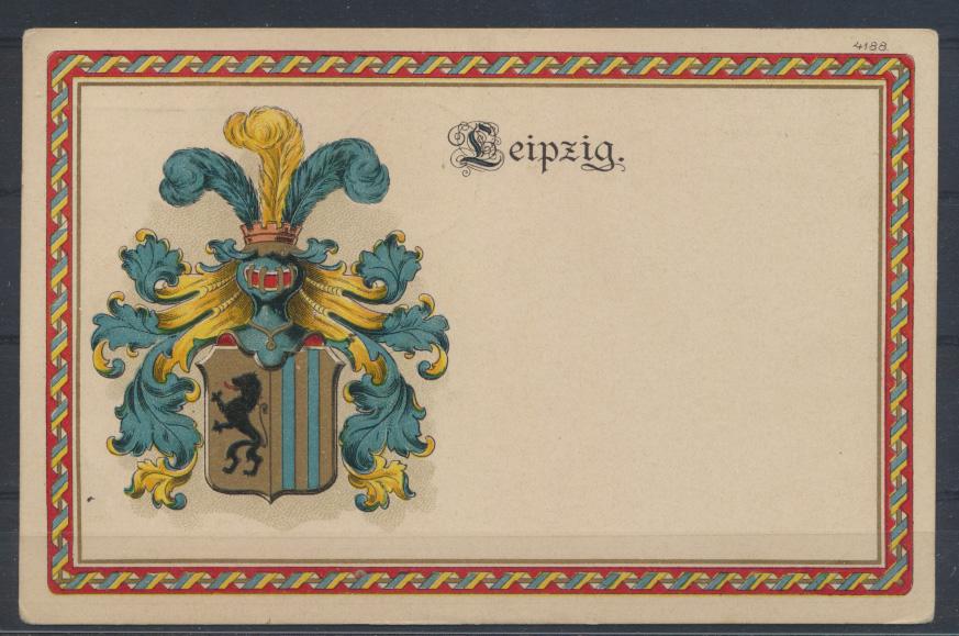 Ansichtskarte Litho Studentika Leipzig 1919  0