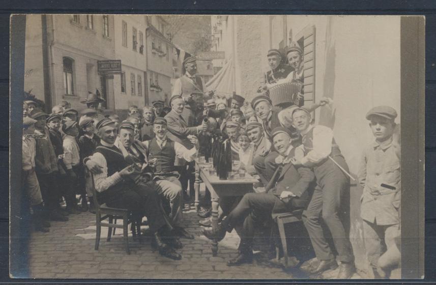 Foto Ansichtskarte Studentika hanschriftlich 1910/11 Verlag Stephan Boppard 0