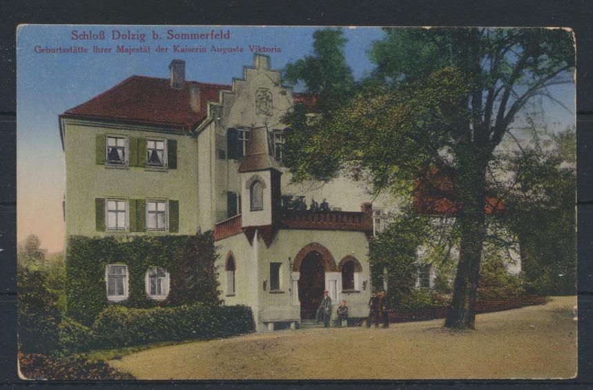 Ansichtskarte Schloß Dolzig Sommerfeld Geburtsstätte Kaiserin Auguste Viktoria 0