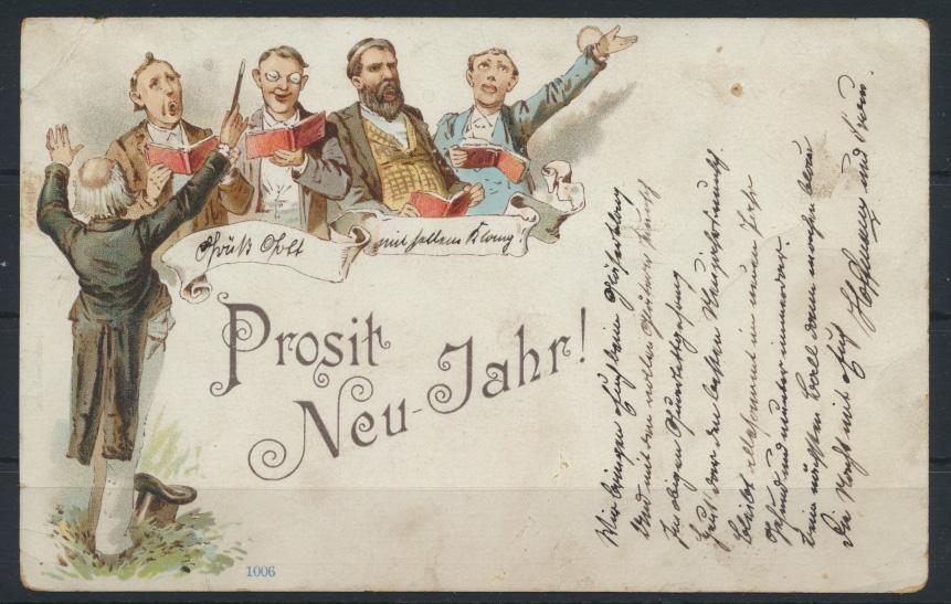 Stadtpost Privatpost Litho Neujahr Courier Magdeburg Burkau 1895 0