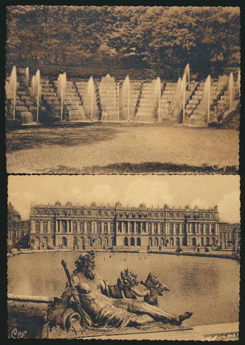 7 Ansichtskarten Frankreich Schloss Versailles ungelaufen 0