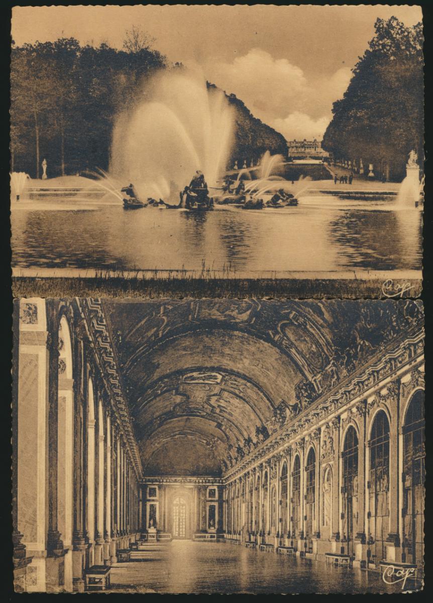 7 Ansichtskarten Frankreich Schloss Versailles ungelaufen 2