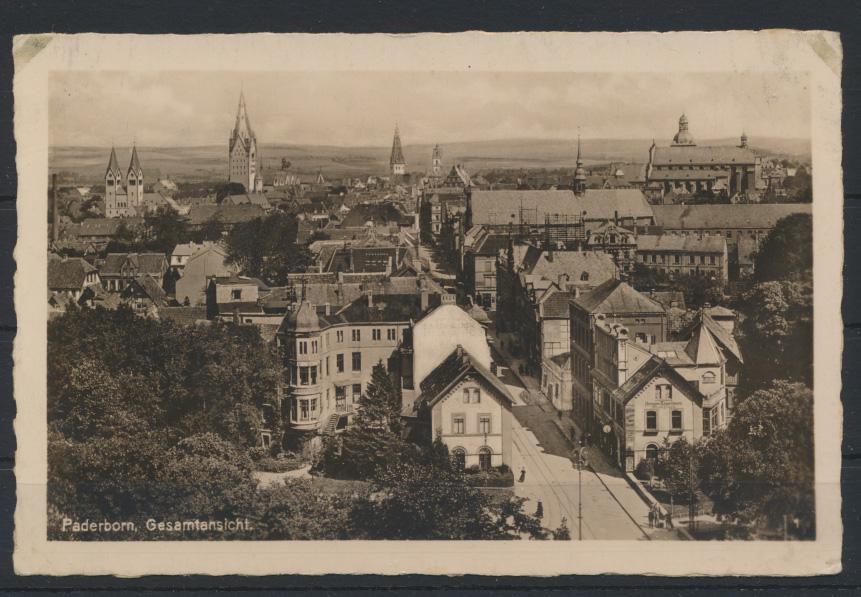 Ansichtskarte Paderborn Gesamtansicht ungelaufen 0