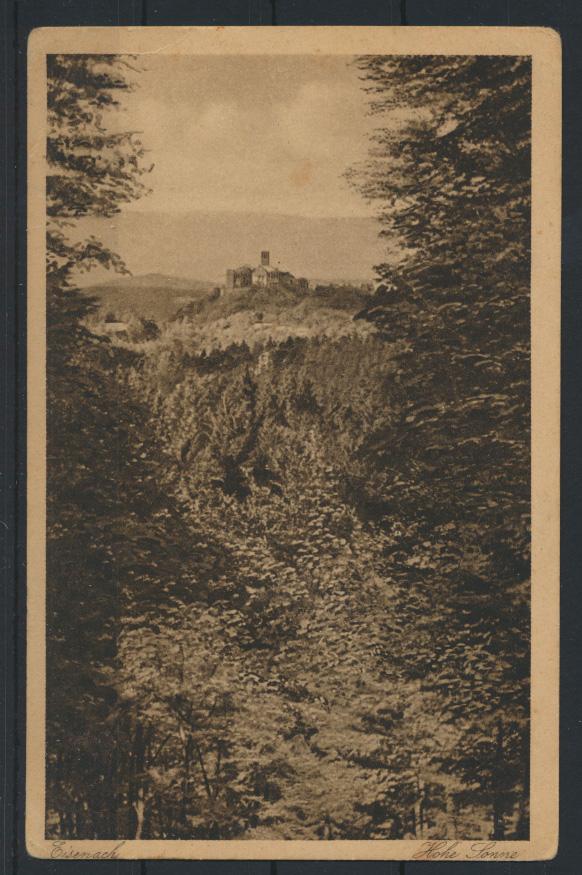 Ansichtskarte Eisenach Hohe Sonne nach d. Wartburg Thüringerwaldverlag Zieschank 0