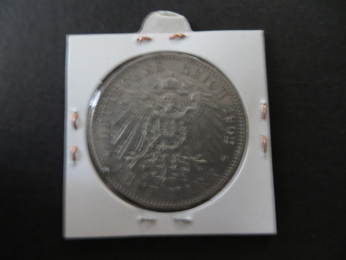 Münze Deutsches Reich Silber Sachsen 1902 5 Mark König Albert ss J 125 1