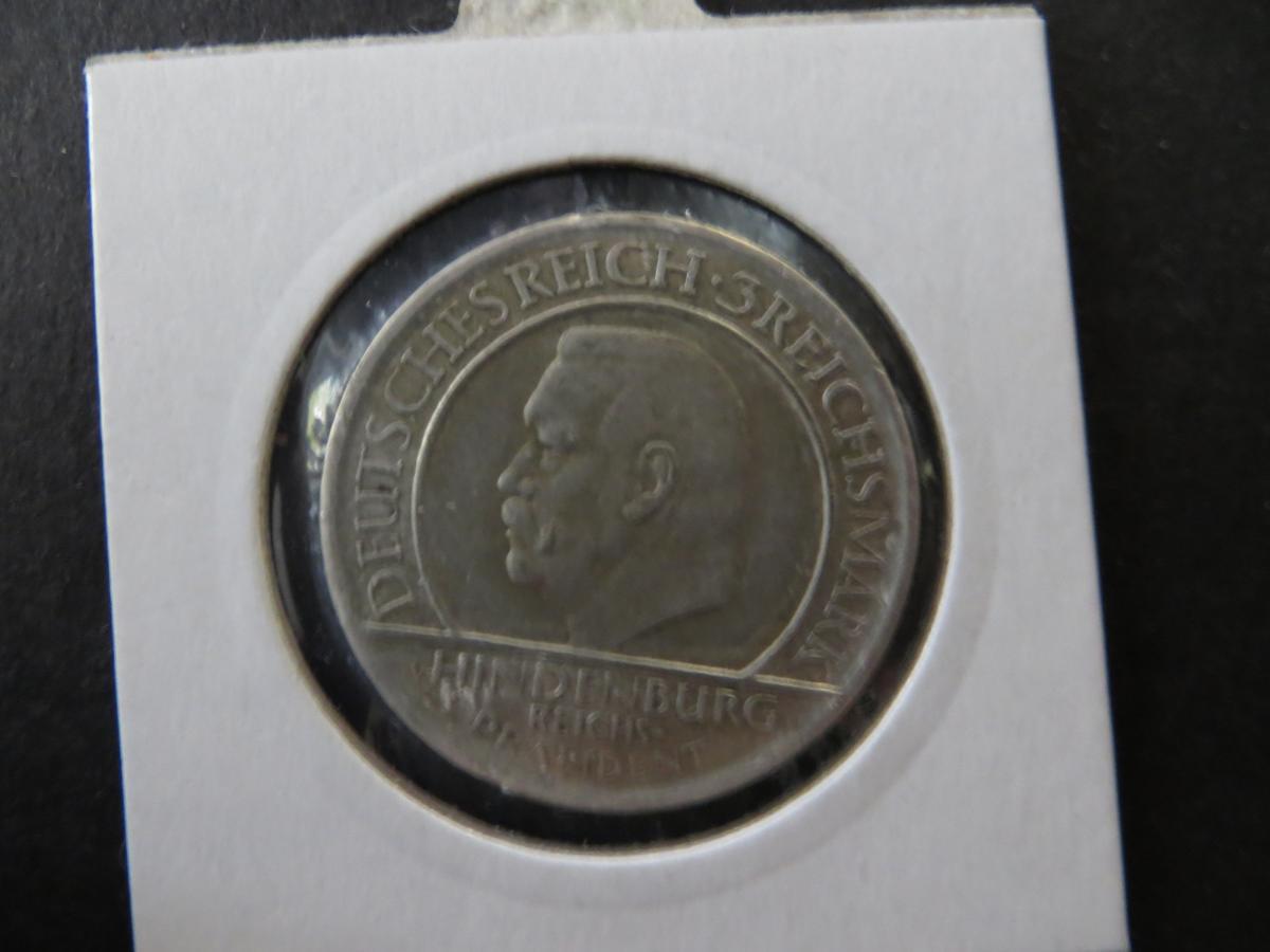 Münze Deutsches Reich Weimar 1929 3 RM F Jahrestag Verfassung ss-vz J 340 1