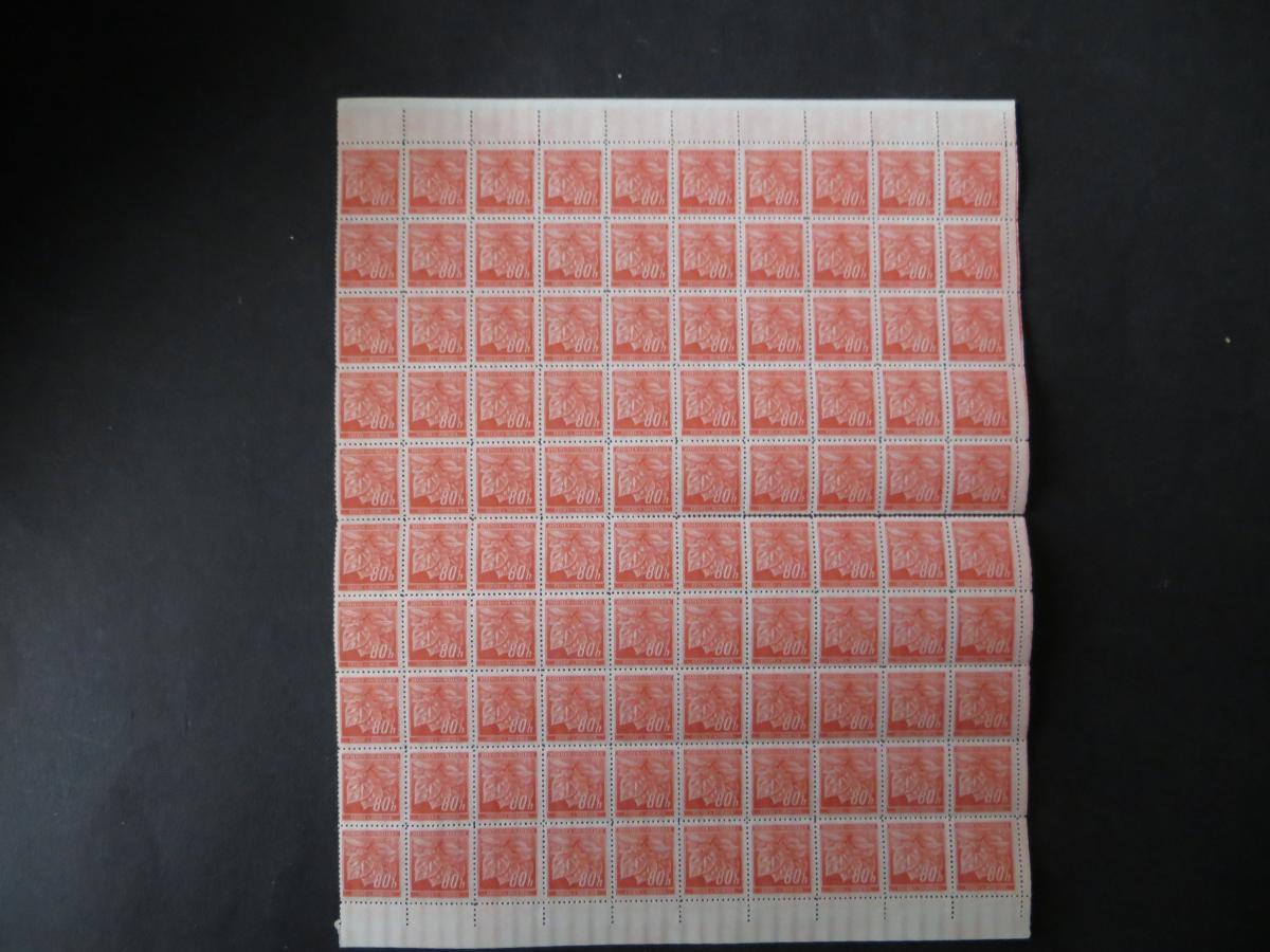 Deutsche Besetzung Böhmen & Mähren Bogen 66 a 100 Marken Luxus postfrisch 0