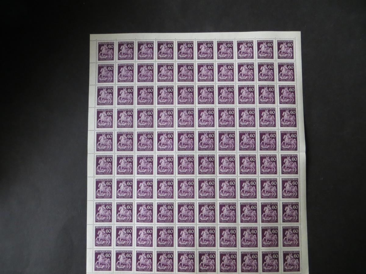 Besetzung Böhmen & Mähren 113 Bogen 100 Marken Luxus postfrisch MNH 0
