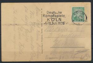 Ansichtskarte Köln Opernhaus Sport Masch.-Stempel Kampfspiele nach Wiesbaden