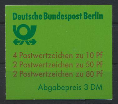 Berlin Markenheftchen 13 a oZ Burgen und Schlösser 1982 Luxus postfrisch 17,00 0