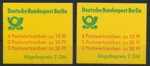 Berlin Markenheftchen 11 c a+b oZ Burgen + Schlösser 1982 Luxus postfrisch 17,00