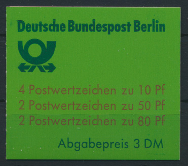Berlin Markenheftchen 13 c oZ Burgen und Schlösser 1982 Luxus sauber gestempelt 0