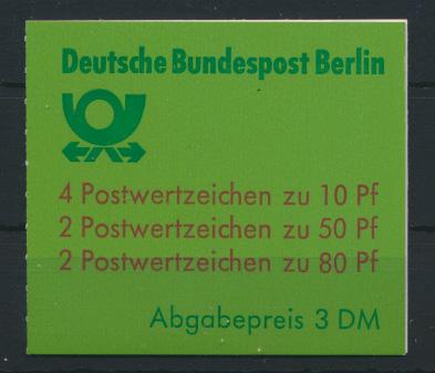 Berlin Markenheftchen 14 oZ Sehenswürdigkeiten 1989 Luxus gestempelt Kat. 70,00 0