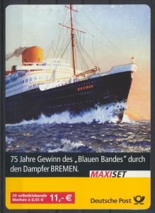 Bund MH 56 Maxi Set Dampfer Bremen Blaue Band Luxus EEST Lauf a.d. Pegnitz