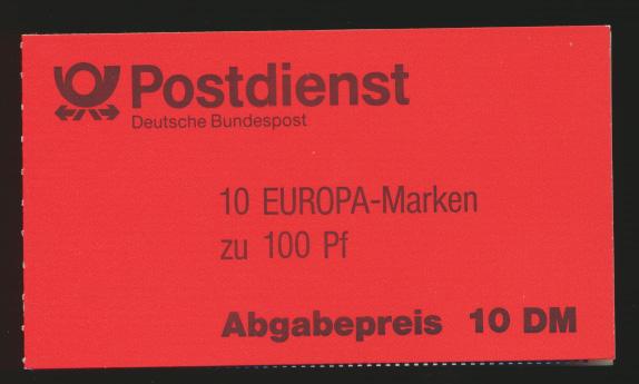 Bund Markenheftchen MH 30 oZ Europa 94 Luxus EEST Weiden  0