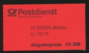 Bund Markenheftchen MH 30 oZ Europa 94 Luxus EEST Weiden