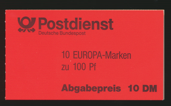 Bund Markenheftchen MH 30 oZ Europa 94 Luxus postfrisch Kat.-Wert 19,00 0