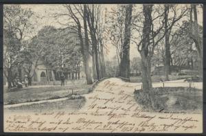 Ansichtskarte Hettstedt Stadtpark Sachsen Anhalt 1904 nach Riesa