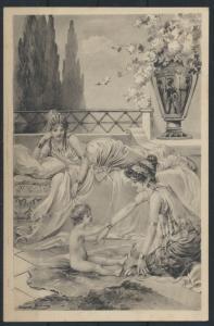 Ansichtskarte Künstler Verlag Ströfer Jugendstil Art Nouveau Serie 483 Nr. 5