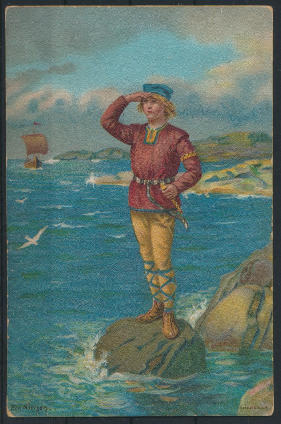 Ansichtskarte Litho Künstlerkarte Motiv Seefahrt Heimkehr sign. Nielsen Belgien 0