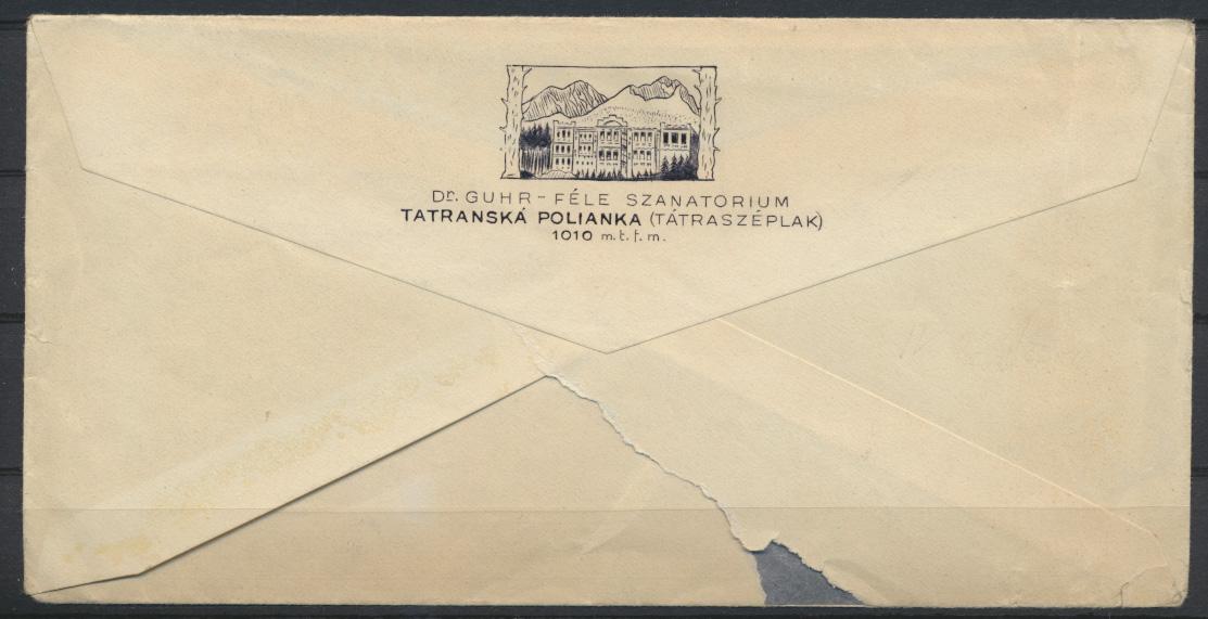 Tschechoslowakei Brief mit SST Motiv Wintersport Ski 1935  1