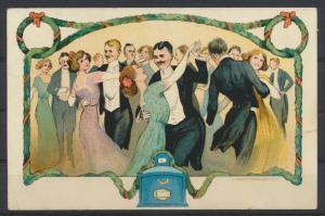 Litho Künstler Ansichtskarte Tanzen  En Bretagne Verlag G. Danner Mühlhausen