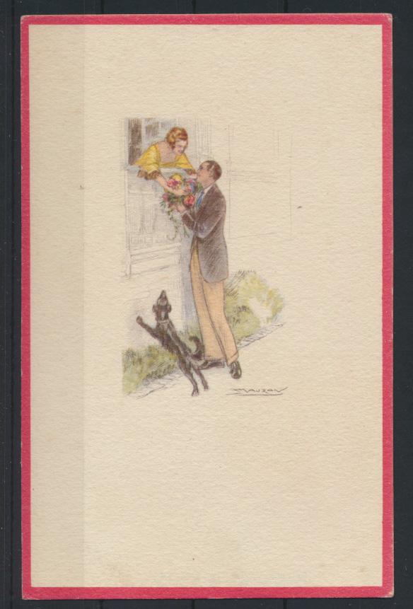 Künstler Ansichtskarte Art Deco sign. Achille Mauzan Italien 0