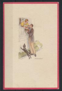 Künstler Ansichtskarte Art Deco sign. Achille Mauzan Italien