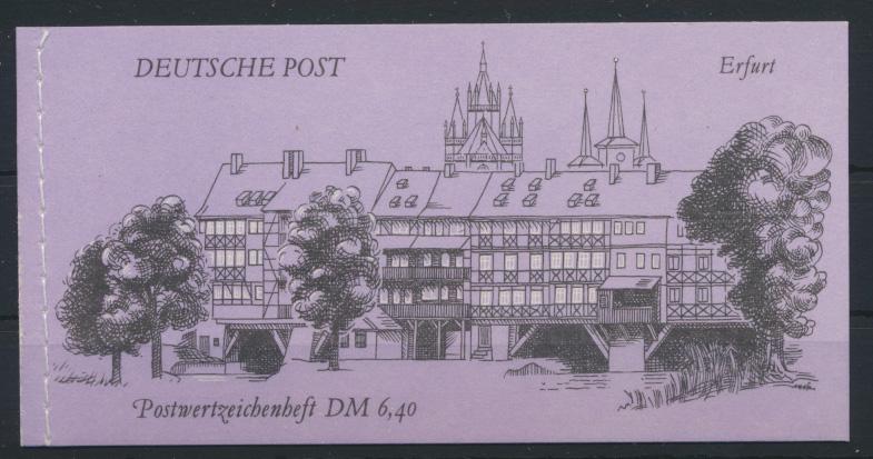DDR Markenheftchen MH 10 Bauwerke + Denkmäler Luxus Ersttag Berlin 02.10.1990 0