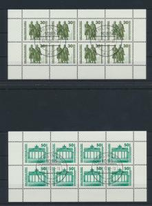 DDR Zusammendrucke Heftchenblatt HB 20+21 Bauwerke + Denkmäler Ersttag Berlin