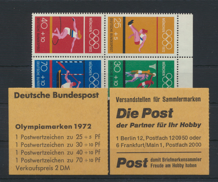 Bundesrepublik Zusammendruck Heftchenblatt HB 22 Olympiade 1972 postfrisch  0
