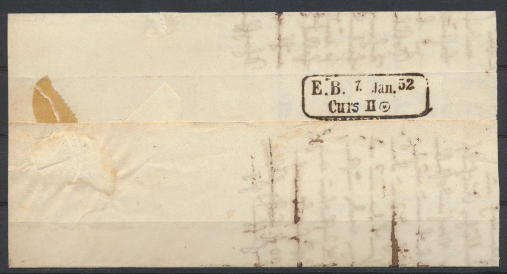 Baden Markenloser Brief Bahnpost Curs Stempel auf ab Carsruhe mit Sonnenscheibe 0