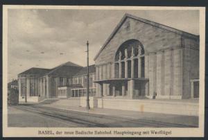 Ansichtskarte Schweiz Basel Neuer Badischer Bahnhof Haupteingang Westflügel