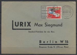 Bund Brief EF 299 Wohlfahrt Landwirtschaft SST Philatelie Siegen nach Berlin