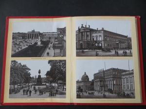 Leporello Album von Berlin 24 Bilder Verlag L. Glaser Leipzig Jugendstil selten