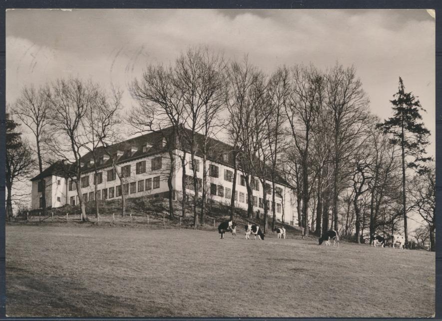 Ansichtskarte Jugendherberge Aachen Colynshof 8.6.1962 nach Hamburg Harburg 0