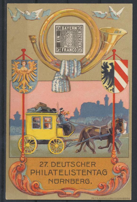 Deutsches Reich Privatganzsache PP 57 C 1 02 Nürnberg Philatelistentag + SST 0