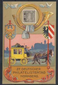 Deutsches Reich Privatganzsache PP 57 C 1 02 Nürnberg Philatelistentag + SST